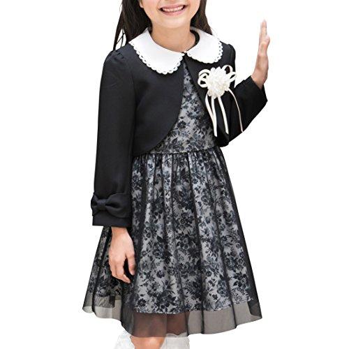 [アリサナ]arisana 入学式 女の子 スーツ 卒園式 子供服 フォーマル スカート リア (ボレロ + ワンピ—ツ の...