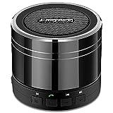 EasyAcc Mini Portable Bluetooth 4.0 Lautsprecher Speaker mit Multifunktions (FM Radio, 3,5 mm Audio, Micro SD Karte Slot, Mikrofon) Schwarz