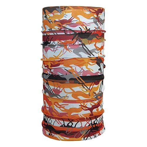 ebos Qualitatives Multifunktionstuch | Schlauchtuch, Multischal, Bandana, Halstuch, Kopftuch | Ideal als Snowboardtuch, Fashion, etc! | in verschiedenen Designs erhältlich (Ethno orange)