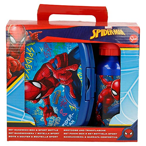 SET URBAN VUELTA AL COLE 2 PCS. (BOTELLA ALUMINIO 400 ML, SANDWICHERA URBAN) SPIDERMAN GRAFFITI