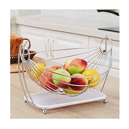 QTQHOME Iron Art Fruit Basket Bowl Bowl,Living Room Storage Dried Fruit Holder (Couleur:Rose)