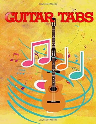 Blank Guitar Tabs: Christmas Songs Guitar Tabs Glossy Cover Design White Paper Sheet Size 8.5x11 Inches ~ Tablature - Music # Blank 112 Pages Fast Print.