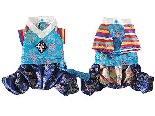 Les costumes pour animaux Vêtements pour chien amoureux Hanbok à broder garçon fille pour petit chien chat vêtements XL