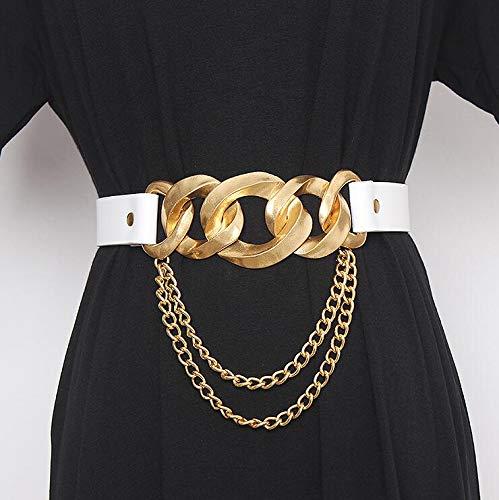 FastDirect - Cintura da donna alla moda, in metallo, con fibbia e fibbia, per abito da donna