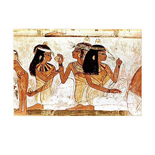 ottbrn Fresque badmat, oude Egypte, personaliseerbaar, wandkleed, badkamertapijt 15,7 x 23,6 inch