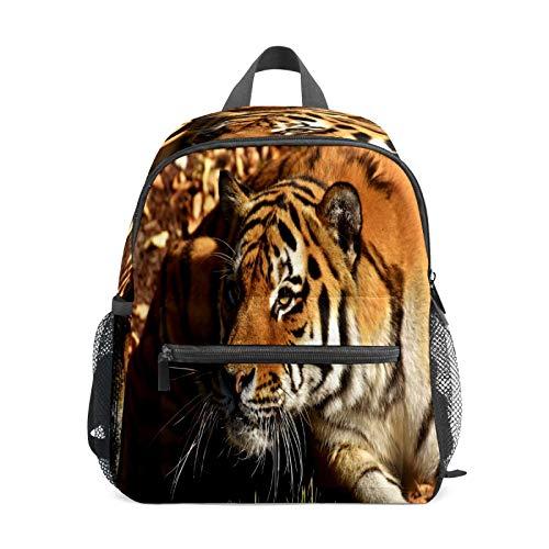 Mochila infantil para niños de 1 a 6 años de edad, mochila perfecta para niños y niñas tumbados, ojos de tigre acostados