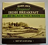 2 X Trader Joe's Original Irish Breakfast Tea (80 Black Tea Bags Per Box)