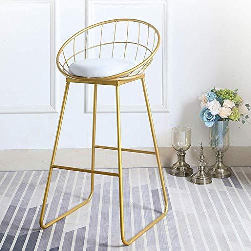 LLT Práctica de heces altura de mostrador taburete asiento blanco, sillas de comedor moderno taburetes de bar tapizado de metal del oro de la pierna, de la cafetería, bar, casa Balcón,Sentado Altura