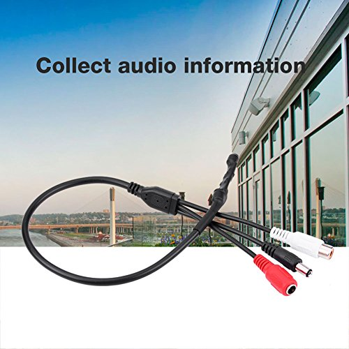 Richer-R CCTV camera microfoon audio, High Sensitive Audio Pickup Device CCTV microfoon sound monitor, mini opname audio geluid voice monitoring met RCA interface voor CCTV bewakingscamera