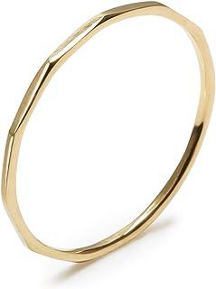 K18 Fine Ring (18金製・ゴールド・極細リング) 華奢リング 重ねつけにも 0-20号 (10)
