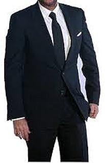 Raymond Men's Unstitched 3.25 m Suit Fabric (Black, Free Size)