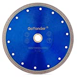 GoYonder 7 Inch Super Thin Diamond Saw Blade for Cutting Porcelain,Tiles,Granite, Marble,Ceramics (7'-Blue)