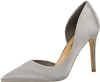 BalaMasa Womens APL11846 Silk D'Orsay Heels