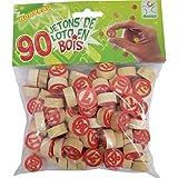 90 gettoni numerati di legno Tombola / Bingo