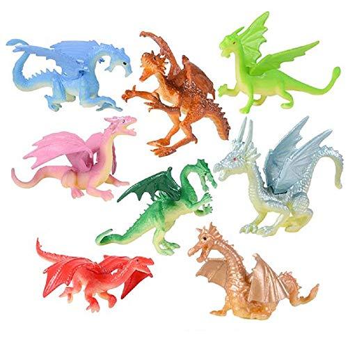 48 Mini Dragon 2 Inch Toy Figures – 48 Dragons and 1 Vortex Eraser...
