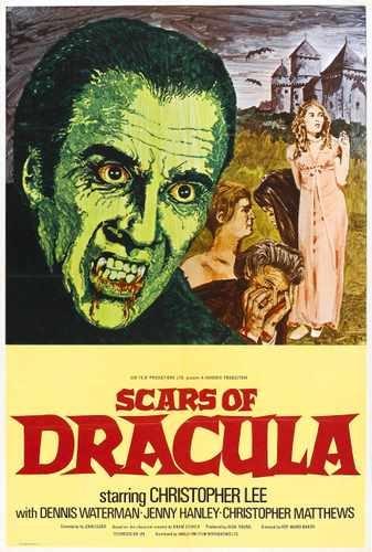 Cicatrices de Drácula cartel 01 lona A2 grande 42 x 60 cm caja impresión de Lienzo 16 x 60,96 cm