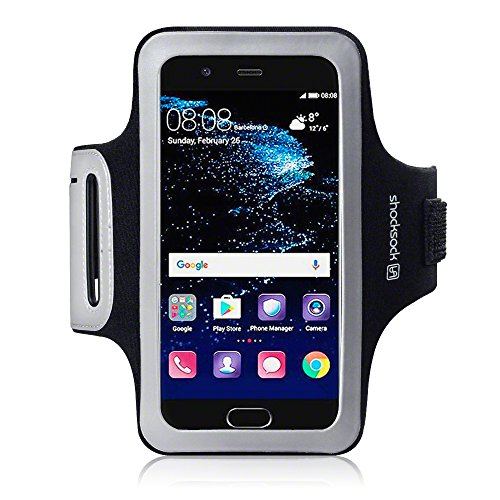Shocksock Fascia Braccio Armband per Huawei P10 Custodia, Colore: Nero