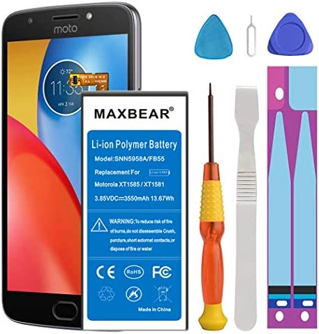 Motorola Droid Turbo 2 Battery Upgraded MAXBEAR 3550mAh Li Polymer Built in Battery SNN5958A product image