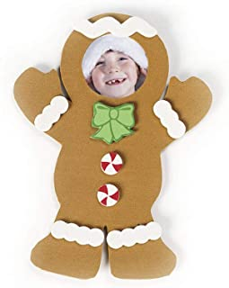 Foam Gingerbread Picture Frame Magnet Craft Kit-Makes 12