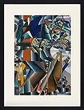 1art1 Kazimir Malévich - El Afilador de Cuchillos Principio de la Animación, 1913 Póster De Colección Enmarcado (80 x 60cm)