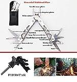 TRSCIND Erste-Hilfe-Set, Survival Kit mit Taschenlampe Feuerstahl und Rettungsdecke 130-teilig - 5