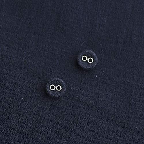 2つ穴くるみボタン(リネンくるみボタン) #BT184 2穴 10mm C/#NAVY ネイビー 2個セット