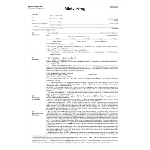 Herlitz Mietvertrag A4 für Wohnräume, 1 Stück
