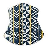 Onlybabycare Mascarilla de cuello geometría tribal ajustable para hombres y mujeres