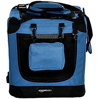 AmazonBasics Panier de transport souple et pliant pour animal de compagnie - 53cm, Bleu