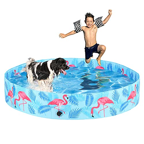 KOOLTAIL Foldable Dog Swimming Pool - Large Collapsible Pet Bathtub - Summer Pool Outdoor Baby Bath Tub Durable Portable Dog Cat Bathing Pool for Dogs Cats and Kids