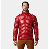 Mountain Hardwear Mens Ghost Whisperer Insulated Down Water Repellent Jacket, Non-Hooded - Racer - XL