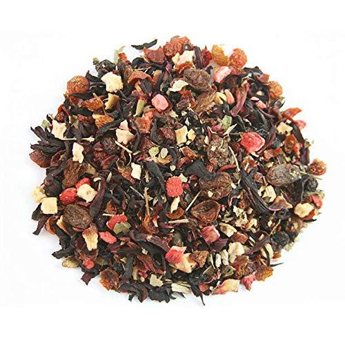 MYKONOS Gourmet 100gr. Infusion Hibisco, rosa mosqueta, manzana, mora, hoja de mora, corintas, cereza, frambuesa, fresa, pasas, aroma.