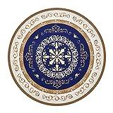 Alfombras XIAOYAN Circular De Arte Europeo Clásico para Colgar Sillas De Cesta, Colchonetas De Salón, Sillas Giratorias área, Antideslizante Y Absorción De Agua(Size:160×160cm)