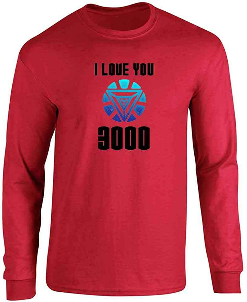 I Love You 3000 Gift for Dad Superhero Red 3XL Full Long Sleeve Tee T-Shirt