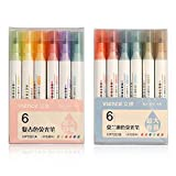 JWWDFSS Highlighter Chisel Tip Marker Pen Fluorescent pen Assorted Colors, Water Based & Quick Dry Colored Pens 12 Colors for Office School Stationery Supply