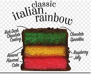 The Original Cakebites Italian Rainbow - 8 Grab and Go Packages 4 per box (8