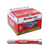 Fischer 538240 Taco Duopower 6X50 L / (Caja de 100 Uds), Gris/Rojo