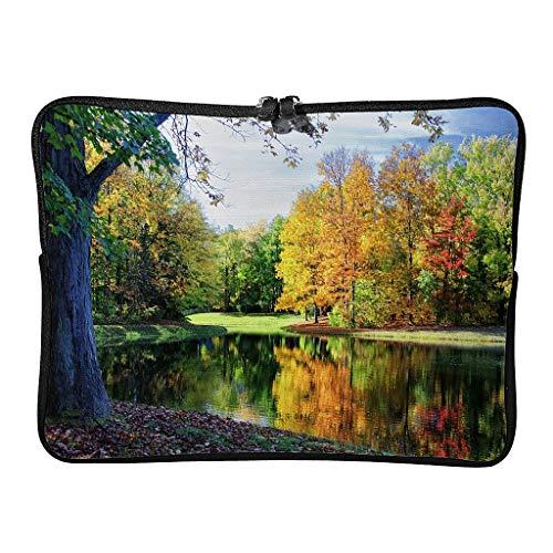 5 Größen Herbst Bunte Bäume Reflexionen Laptoptaschen Gemustert Leicht - Landschaft Laptop-Hülle Geeignet für Indoor White 10 Zoll