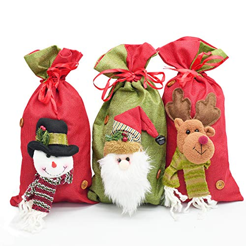 Unicorn Santa Sack Christmas Noël Renne Sac Stocking Nom Personnalisé Filles
