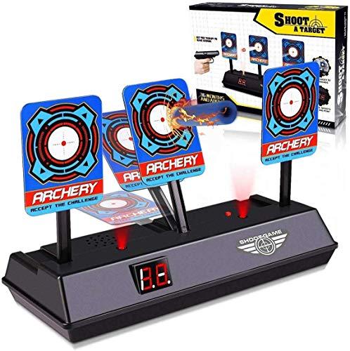 Yiran Electronic Digital Target for Nerf Guns, Auto-Reset Intelligent Light Sound Effect Scoring Target for Nerf N-Strike Elite/Mega/Rival Series (Only Target)