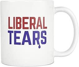 Trendsy Tees Liberal Tears Mug Funny Political 11oz White Coffee Mugs