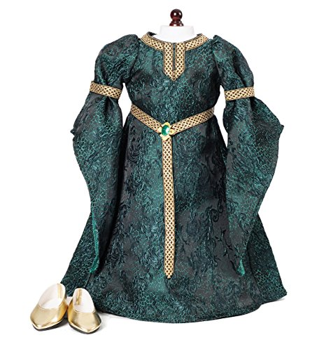 Celtic Princess Medieval Dress and Shoes Fits 18' American Girl Dolls