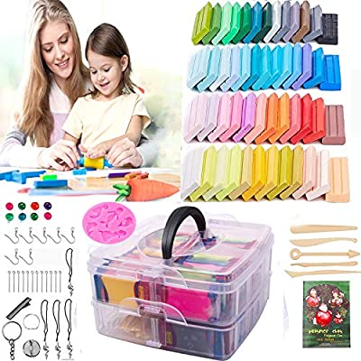 Amazon - 50% Off on Polymer Clay – Oven Bake Clay 50 Colors DIY Colored Clay Kit