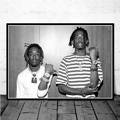 daerduotutu Playboi Carti Lil Uzi Vert Rap Hip Hop Sänger Poster Leinwand Gemälde Wandkunst Bilder Wohnkultur D34 50 × 70CM Ohne Rahmen