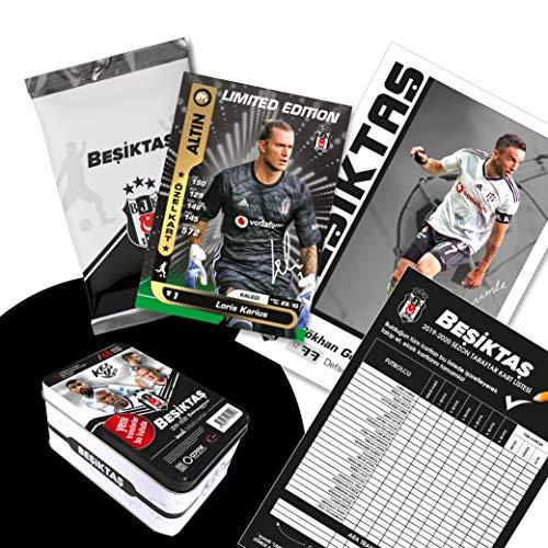 Besiktas Istanbul Original lizenzierte 48 Spielerkarten Sammelkarten mit Orig. Unterschriften Fußballkarten Saison 2019/20 Fanartikel Set mit Geschenkbox BJK