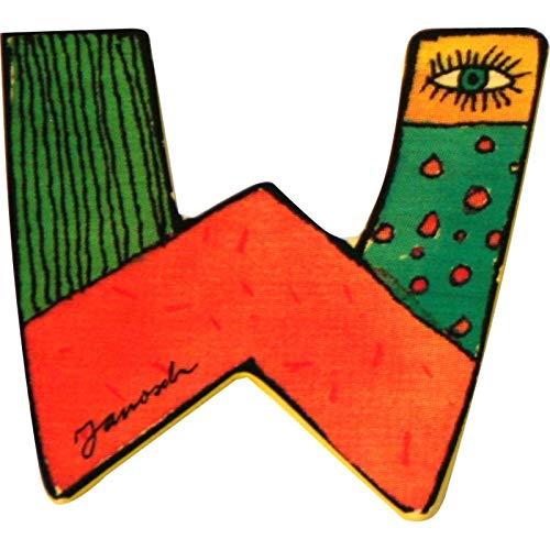 Janosch Holzbuchstabe W farblich sortiert