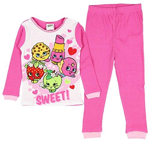 Shopkin Girls Pajama Set Thermal Pant and Long Sleeve Shirt 2 Pc (10)