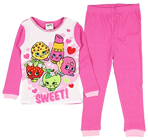 Shopkin Girls Pajama Set Thermal Pant and Long Sleeve Shirt 2 Pc (8)