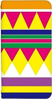[OPPO Reno3 5G] ケース 手帳型 スマホケース 手帳 カバー オッポ レノ3 リノ 3 5g ファイブジー ケース 手帳 おしゃれ かわいい デザイン ボヘミアン 柄 0075-E. シンプルカラフル 人気 スマートフォン カバー...
