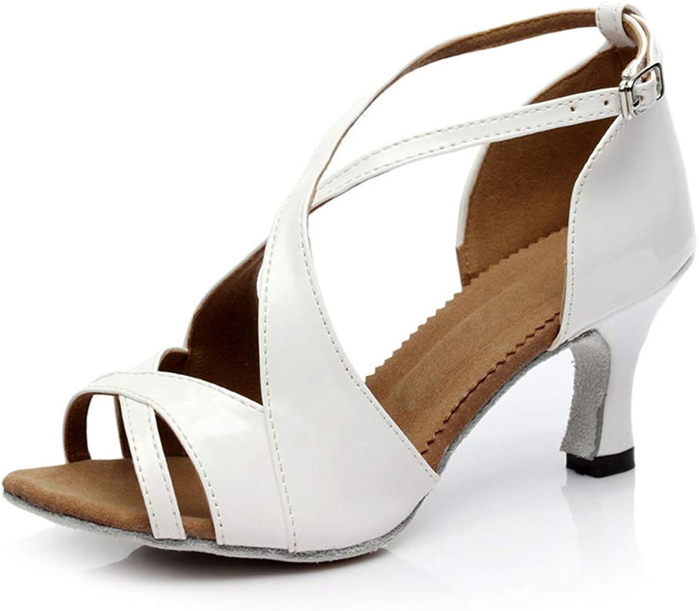 Excellent.c Women's Dance shoes Low Heel Sandals Latin Dance shoes